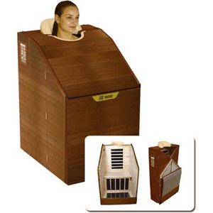 portable sauna made with wood